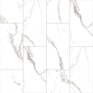 Karara White Marble 610*305*4.0/4.5/5.0/5.5/6mm SPC Flooring (VL89724-001)